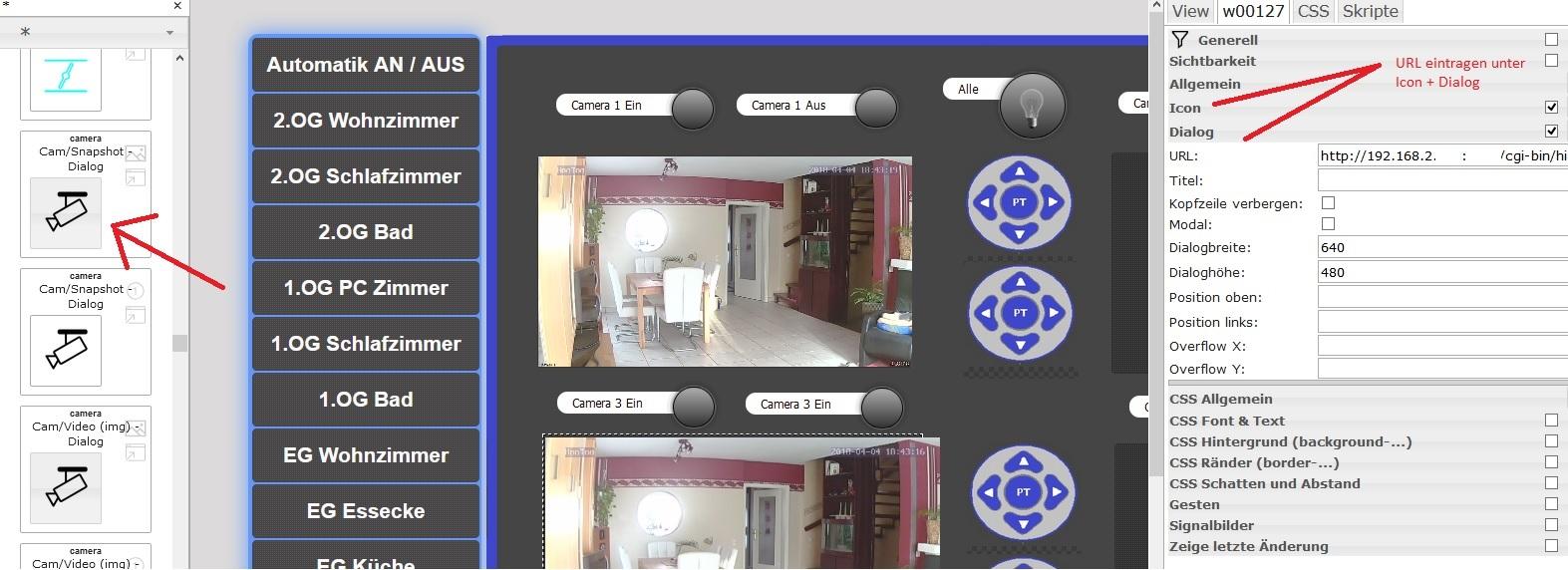 Einbindung (IP) Kamera über