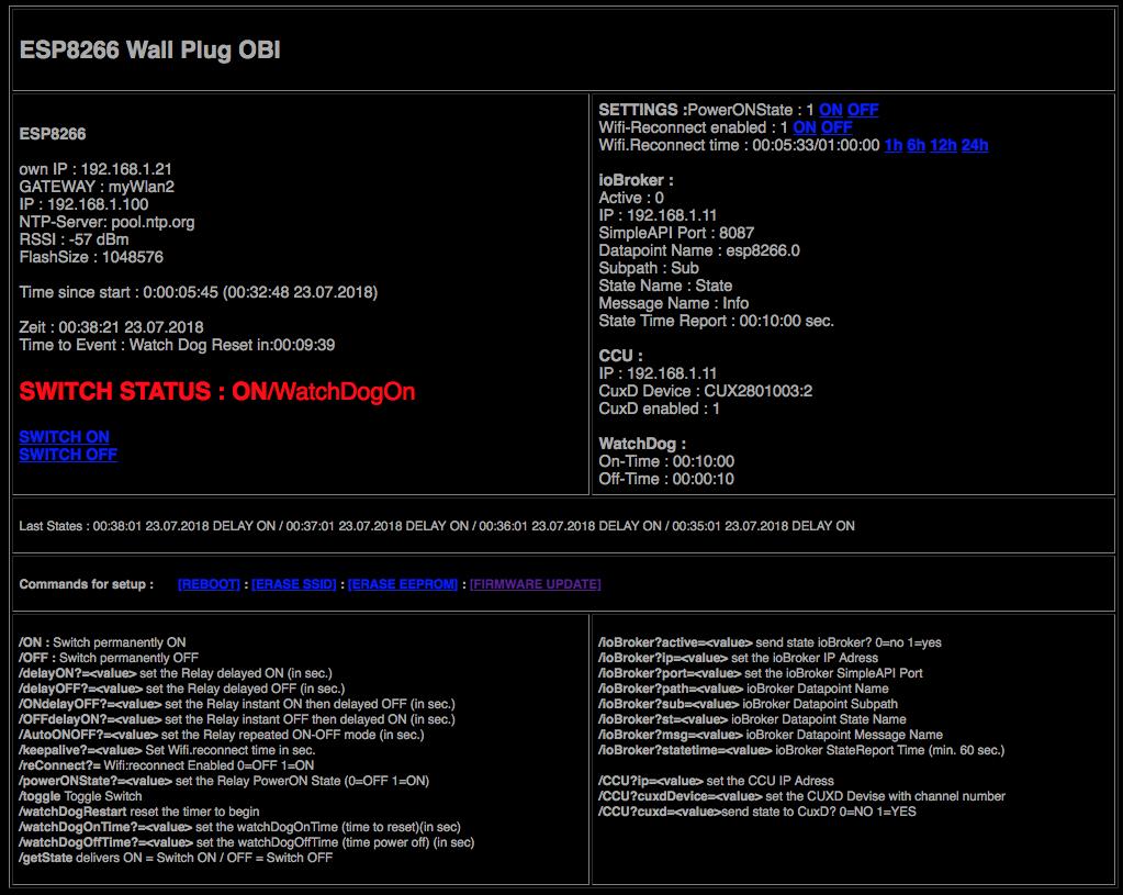 OBI Funk-Steckdosenumbau ESP8266 (Generation1 Rund)