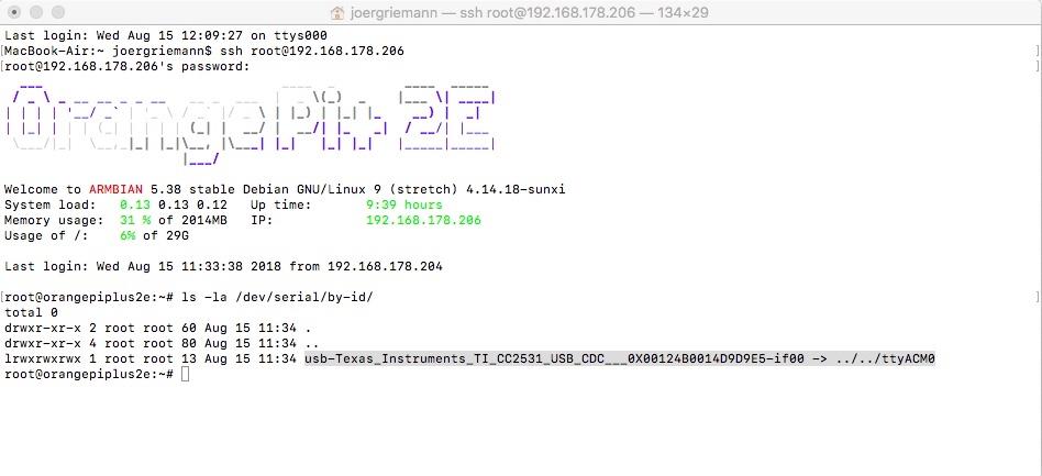 gelöst] Zigbee Addapter - USB Stick CC23531 flashen