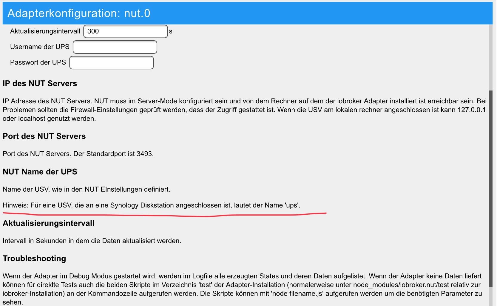 Adapter] NUT Adapter (USV/UPS auslesen per NUT)